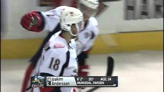 Joakim Andersson uses his Size, Speed And Skill for the Goal June 14 Game 4