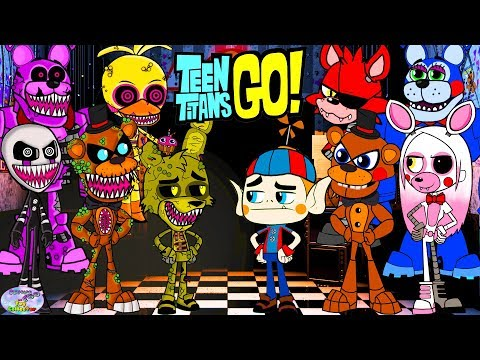 Teen Titans Go! Color Swap into Five Nights at Freddys Twisted Surprise Egg and Toy Collector SETC