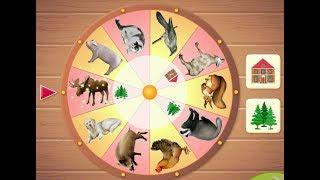 Учим диких и домашних животных с волшебным колесом