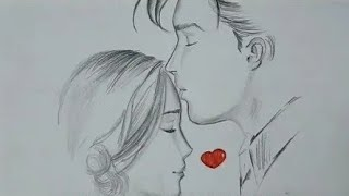 how to draw romantic couple pencil sketch By Art sketches | art sketche #love