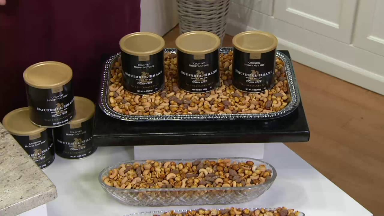 Squirrel Brand (3) 16 oz  Cans of Country Honey Nut Mix on QVC