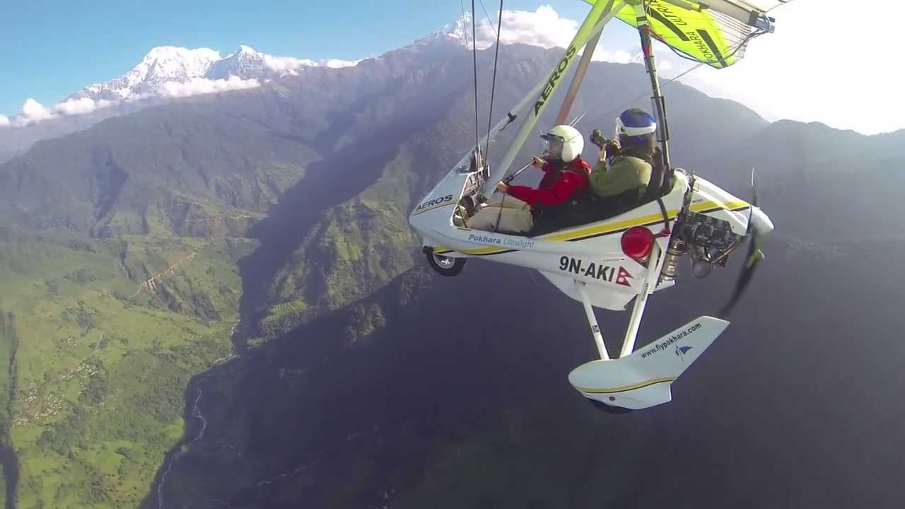 Utralight flight in Pokhara
