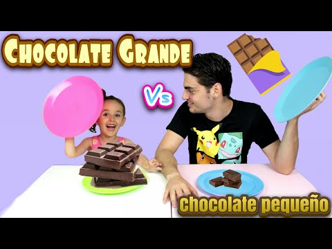 Download Youtube: CHOCOLATE GRANDE VS CHOCOLATE PEQUEÑO challenge BIG VS SMALL