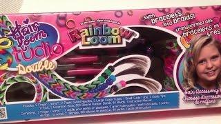 ОБЗОР набора ДЛЯ ПЛЕТЕНИЯ УКРАШЕНИЙ ДЛЯ ВОЛОС из резинок Rainbow Loom Bands