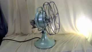 Signal Electric Coolspot 901 solid aluminum fan, circa 1924, restored