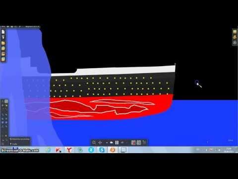 Титаник тонет Sinkling