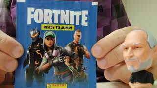 Panini Fortnite Ready to Jump Stickers pack open