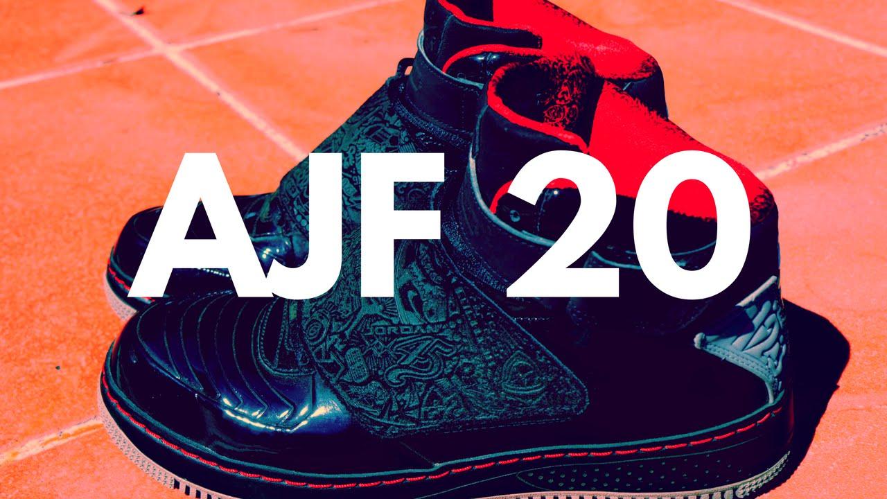 wholesale dealer 4d361 6e73d Air Jordan Fusion 20 (AJF 20) Black   Stealth – Varsity Red On Feet