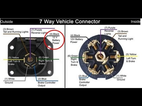 7 Pin Trailer Wire Plug Wiring Diagram Purple Center Better Wiring