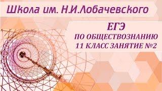 ЕГЭ по обществознанию 11 класс Занятие №2 Человек как результат социокультурной эволюции