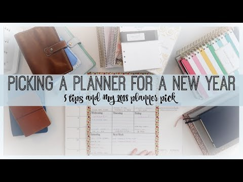 PICKING A PLANNER FOR 2018 | VLOGMAS 2017
