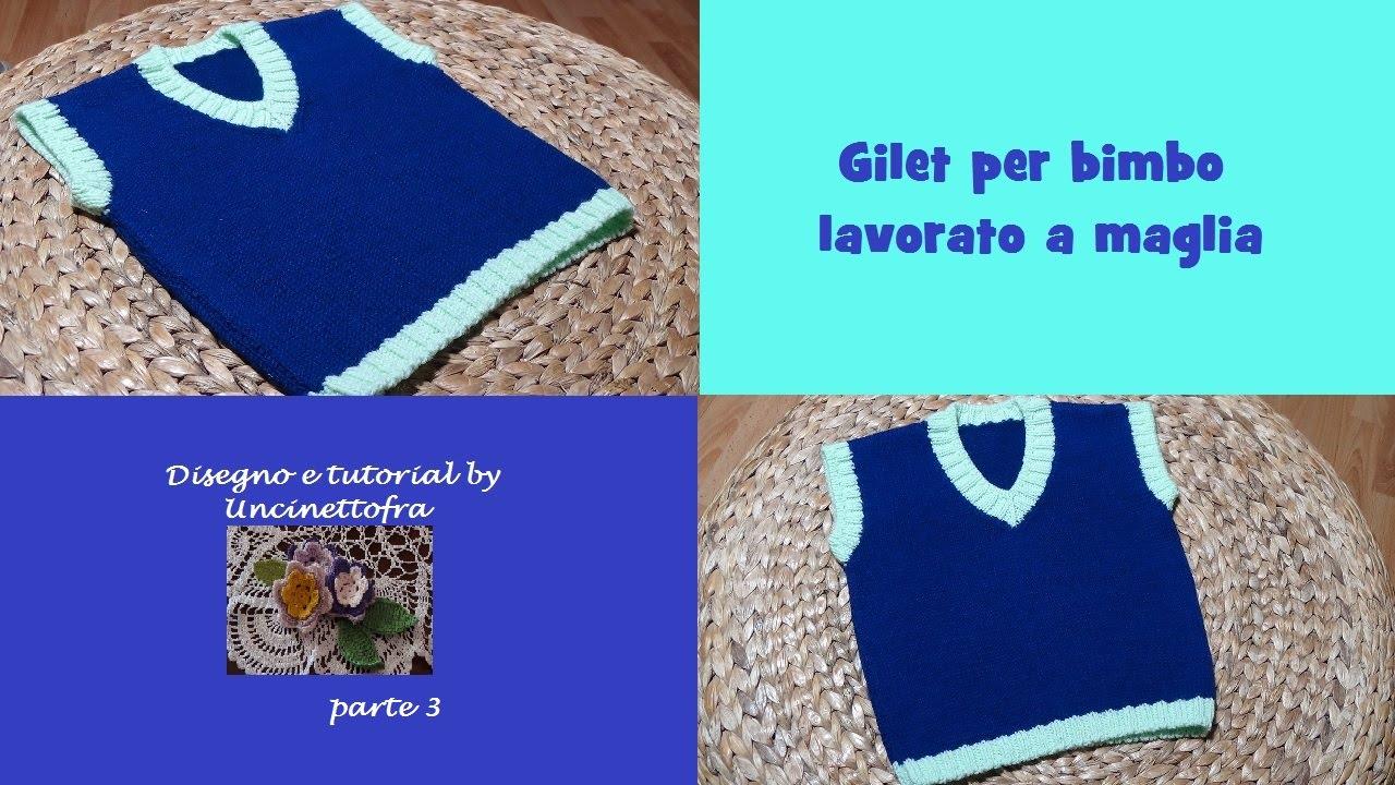 Bien-aimé gilet per bimbo lavorato a maglia tutorial (parte 3/3) - YouTube NE86