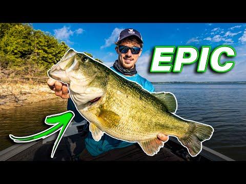 Fishing The LAND Of GIANTS!! (NEW PB And 35 Lb BAG Of BASS)