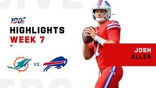 Josh Allen Highlights vs. Dolphins | NFL 2019