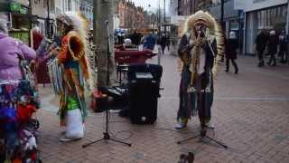 Red Indian pan pipes