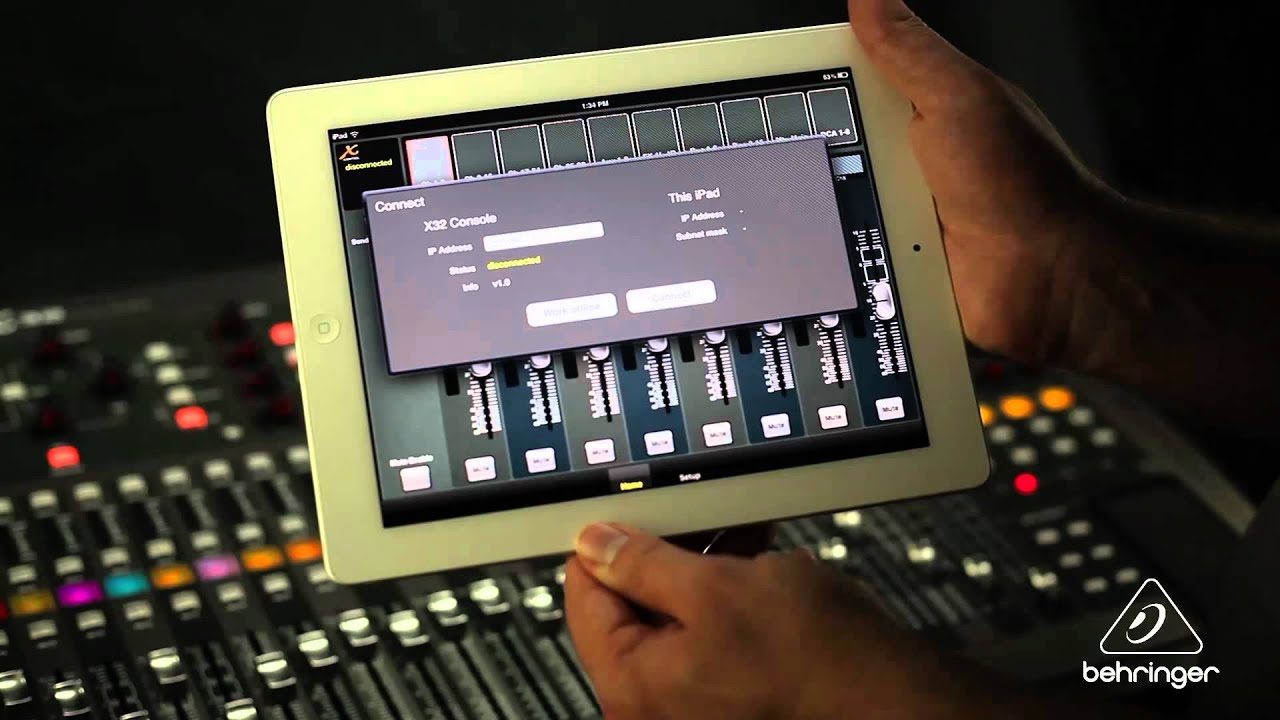 How to use the behringer x32 remote app for ipad xicontrol youtube keyboard keysfo Image collections