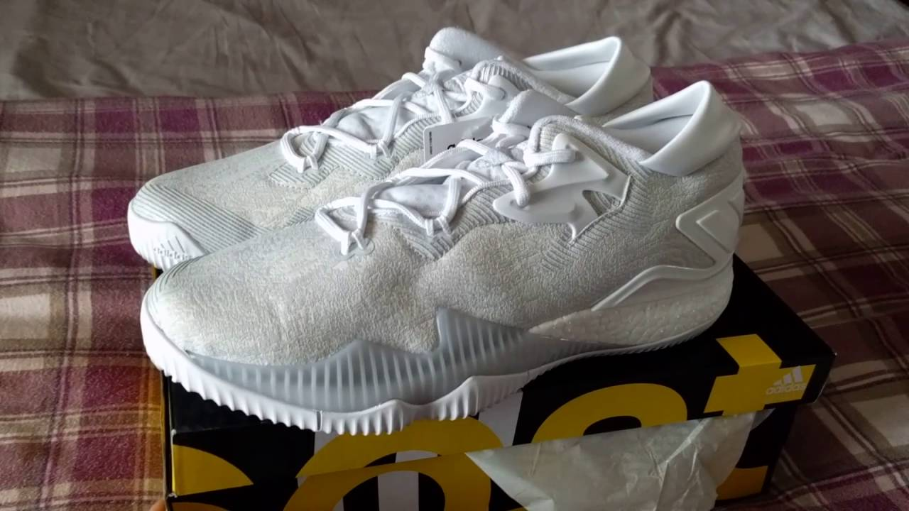 sports shoes de6f0 68f28 Adidas Crazylight Boost 2016 Low Triple White - YouTube