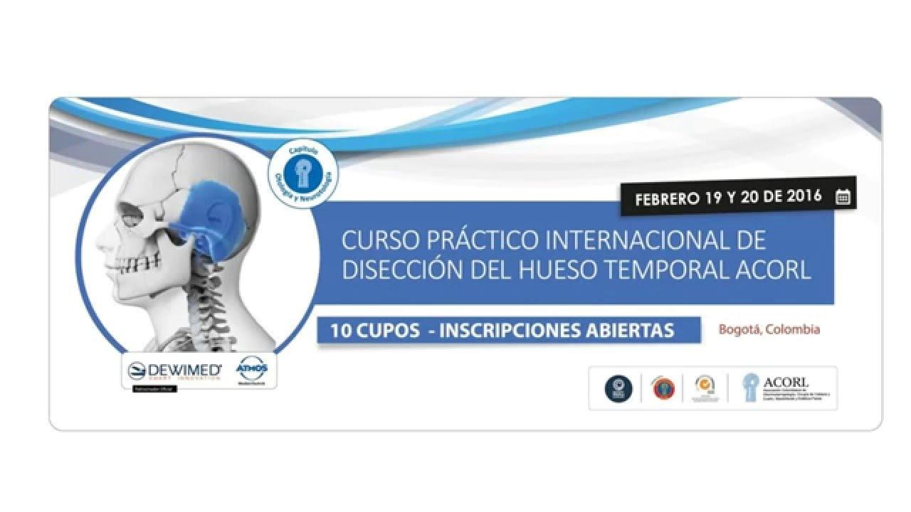 Curso práctico internacional de disección del hueso temporal - ACORL ...