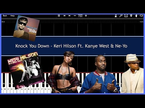 Knock You Down - Keri Hilson (Synthesia)  [Tutorial] [Instrumental Video] [Download]
