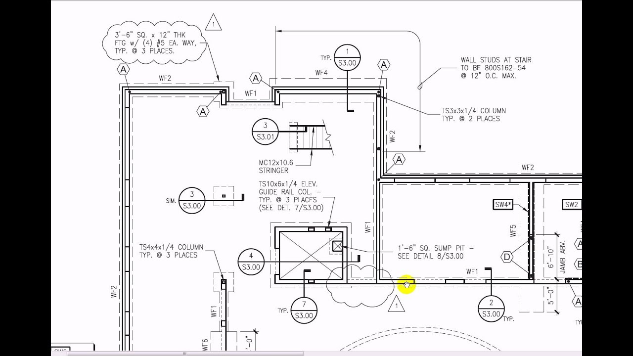 Reading structural drawings 1 youtube malvernweather Choice Image