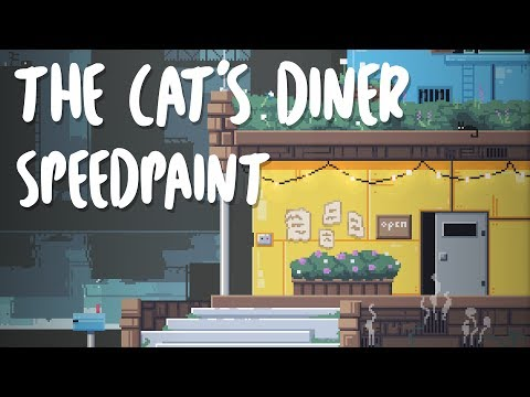 The Cat's Diner - Pixel Art Speedpaint