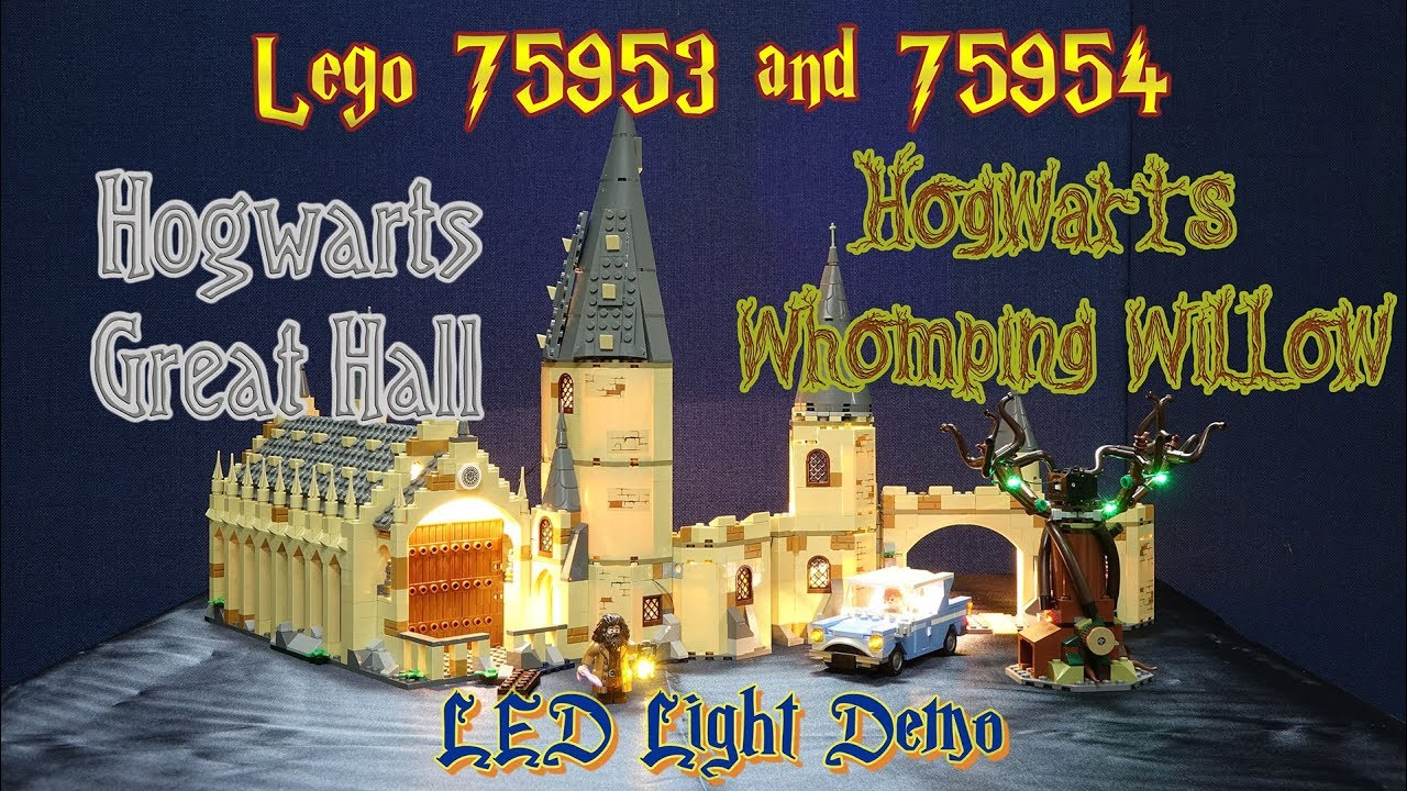 Demo 75954 Hogwarts Lego Whomping Willow Hall Installed Led And Great 75953 T31u5KlFJc