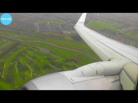 KLM 737-800 Bad Weather Approach and Landing at Amsterdam Schiphol!