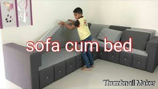 Sofa  cum  bed fully  cushion, fully stores    space  saving ,   pune.