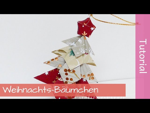 Paper Christmas Tree - Papier-Weihnachtsbäumchen - Tutorial - Stampin' Up! - YouTube