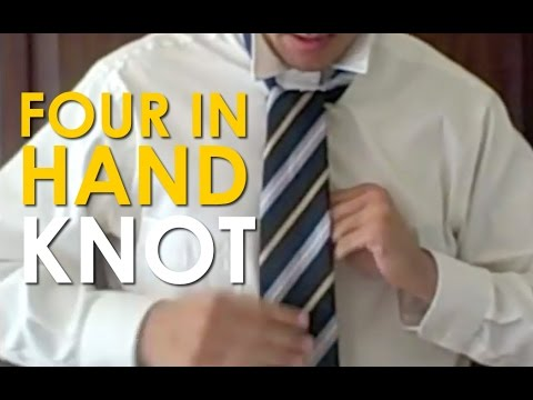 How to tie a four in hand knot the art of manliness youtube how to tie a four in hand knot the art of manliness ccuart Images