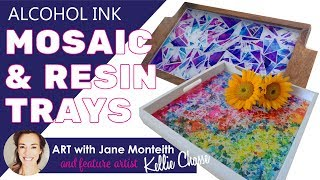 Mosaic Alcohol Ink & Resin Trays