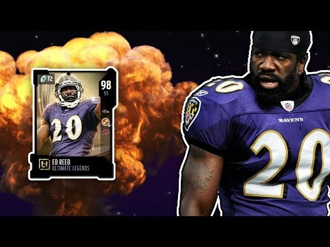 Madden NFL 18: 98 Yards For a Touchdown! (98 OVR Ed Reed Gameplay)