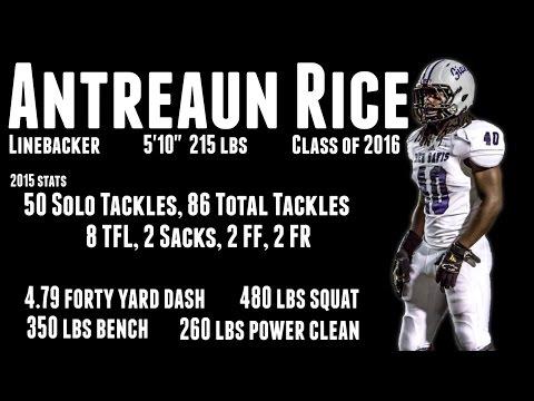 Antreaun Rice Highlights, Class of 2016