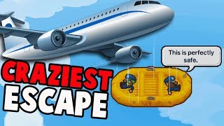 ABSOLUTE CRAZIEST Escape Yet!  Air Force Con (The Escapists 2 Multiplayer Gameplay w Blitz)