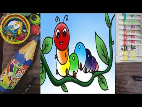How to draw caterpillar for children youtube