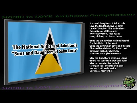 "Saint Lucia National Anthem ""Sons and Daughters of Saint Lucia"" INSTRUMENTAL  with lyrics"