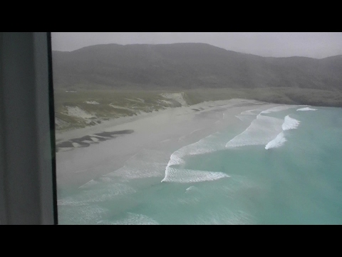 Landing and Take Off in Barra Airport with 50mph winds.