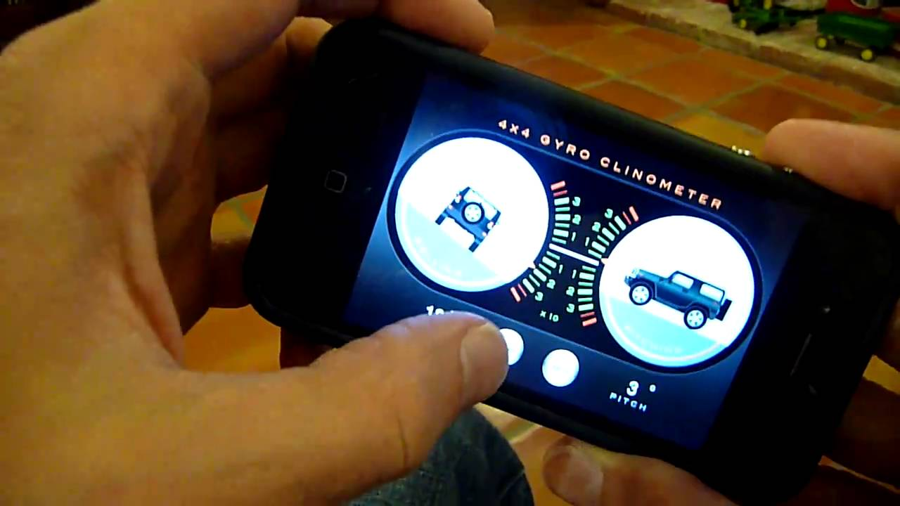 4x4 Gyroscope Clinometer app for iPhone 4