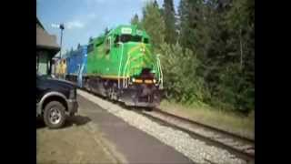 maine northern railway august 5 2012 EPIC 5 UNIT LASH UP of EMD POWER