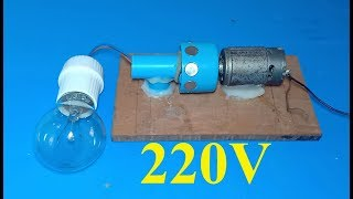 DIY 220V generator , How to make a powerful dynamo , amazing science school project