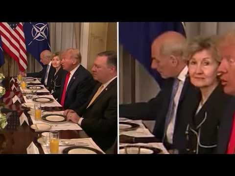 Relive Trump's aides' reactions during his verbal attack on Germany
