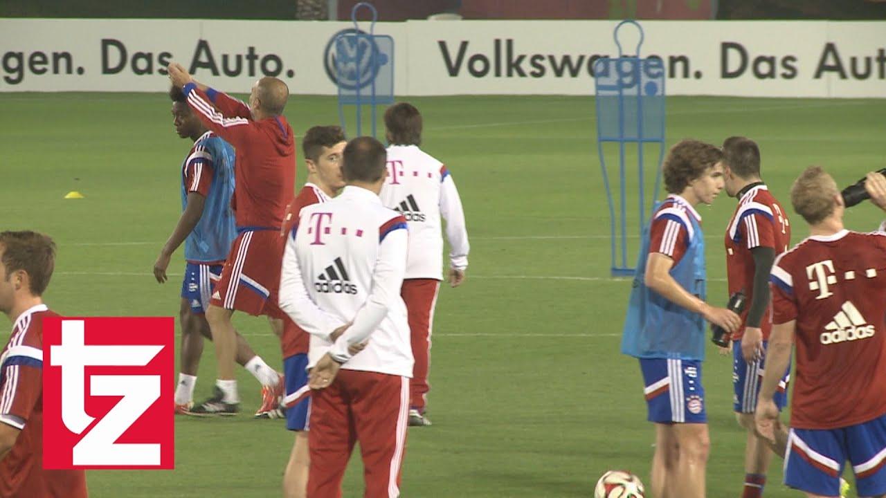 Guardiola Schwärmt Von David Alaba Und Zerstört Ihm Seine Frisur Fc Bayern In Doha 2015
