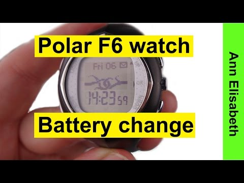 Tech: Polar F6 watch battery replacement