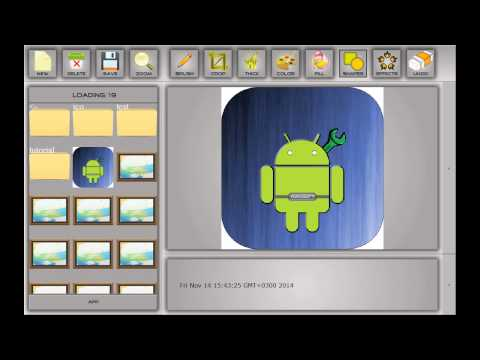 Vector Graphics Maker for Android. Effects and Shapes Drawing Demo.