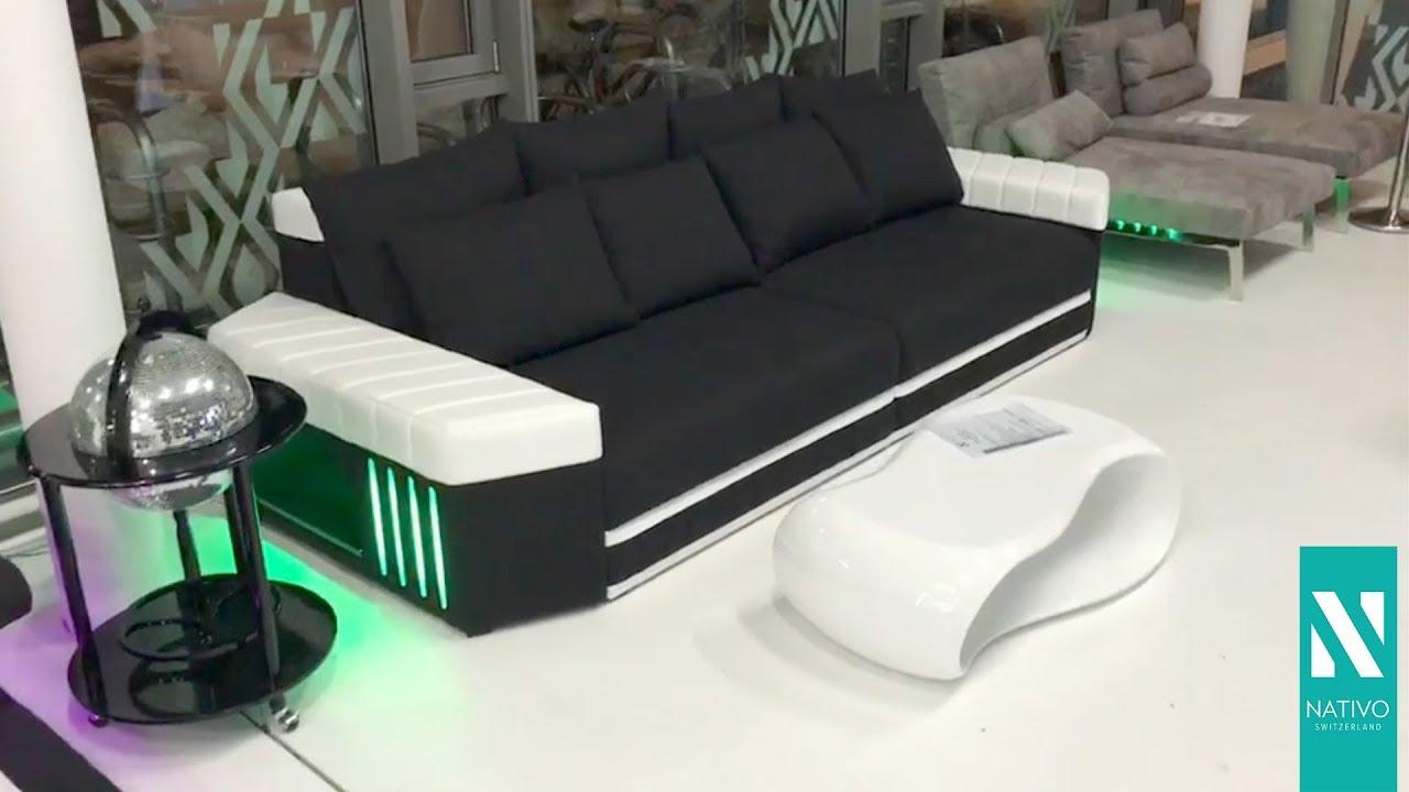 Nativo Möbel österreich Big Sofa Skyline Mit Led Beleuchtung Youtube