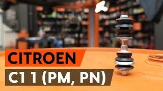 Cómo cambiar los bieletas de suspensión delantero en CITROEN C1 (PM, PN) [VÍDEO TUTORIAL DE AUTODOC]
