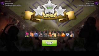clash of clan | 3 star attack on th9 funny base 2017