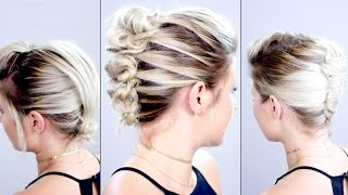 3 Heatless Up-dos For Short Hair Tutorial | Milabu