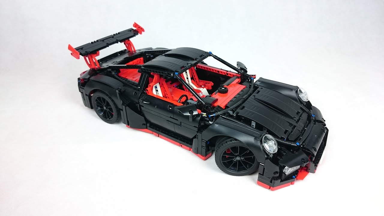 lego technic 42056 porsche 911 gt3 rs black 39 n 39 red youtube. Black Bedroom Furniture Sets. Home Design Ideas