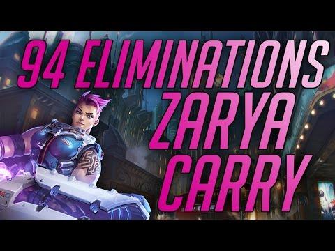 SPREE Overwatch Zarya 94 Eliminations On Kingsrow